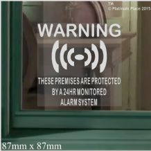 1 x Premises Protected-Monitored Alarm System Stickers for Windows-24hr Security Warning Signs for House Flat,Business,Property-Self Adhesive Vinyl